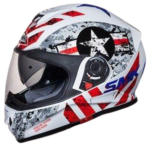 SMK GL163 Twister Captain Graphics Pinlock Fitted Full Face Helmet