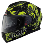 SMK MA240 Twister SKULL Graphics Pinlock Fitted Full Face Helmet With Clear Visor alternative