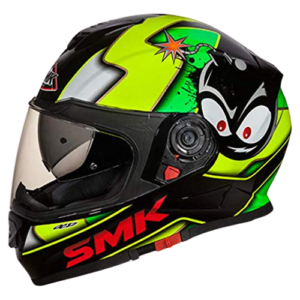 SMK MA241 Twister Cartoon Graphics Pinlock Fitted Full Face Helmet With Clear Visor