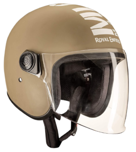 TVS Jupiter desert brown Royal Enfield Helmet