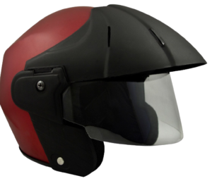 Sage Square Benz Power ISI Certified Open Face Scooty Helmet