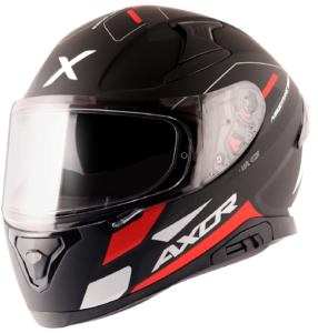AXOR Apex Turbine Dull Black Red Grey Helmet