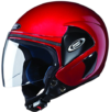 TVS Jupiter Cherry Red studds Helmet